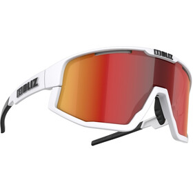 Bliz Fusion Brille matt white/smoke with red multi